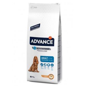 Advance Dog Medium Adult сухой корм для взрослых собак средних пород с курицей 18 кг