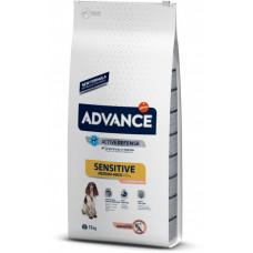 Advance Dog Med/Maxi Sensitive Salmon&Rice сухой корм для собак с чувствительным пищеварением: лосось и рис 12 кг
