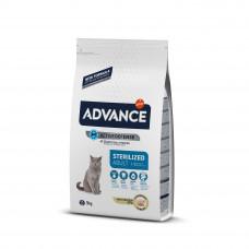Advance Cat Sterilized сухой корм для стерилизованных котов и кошек с идейкой 3 кг