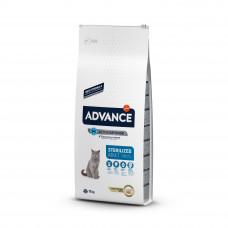 Advance Cat Sterilized сухой корм для стерилизованных котов и кошек с индейкой 15 кг