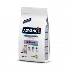 Advance Cat Sterilized Hairball сухой корм для выведения шерсти у стерилизованных кошек, с индейкой 1,5 кг