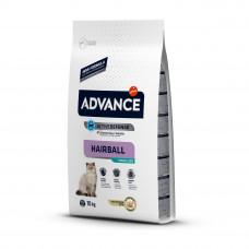 Advance Cat Sterilized Hairball сухой корм для выведения шерсти у стерилизованных кошек, с индейкой 10 кг