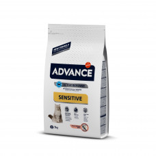 Advance Cat Salmon Sensitive сухой корм с мясом лосося для кошек с чувствительным пищеварением 3 кг