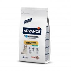 Advance Cat Sterilized Salmon Sensitive для стерилизованных котов с чувствительным пищеварением 1,5 кг