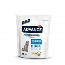 Advance Cat Sterilized сухой корм для стерилизованных котов и кошек с индейкой 0,4 кг