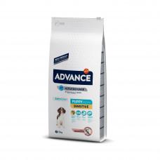 Advance Dog Puppy Sensitive сухой корм для щенков всех пород с чувствительным пищеварением 12 кг