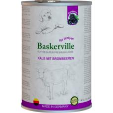 Baskerville Super Premium Kalb Mit Brombeeren. Телятина та ожина для цуценят, 800g