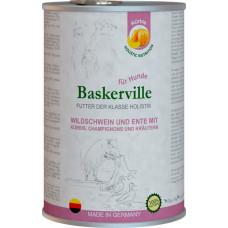 Baskerville Holistic Wildschwein und Ente Mit Kurbis, Champignons und Krautern. Кабан и качка з гарбузом та зеленню для собак, 400g