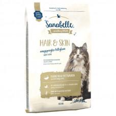 Bosch Sanabelle Hair & Skin для взрослых кошек поддерживает здоровье кожи и шерсти 10 кг