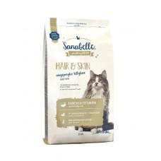 Bosch Sanabelle Hair & Skin для взрослых кошек поддерживает здоровье кожи и шерсти 2 кг
