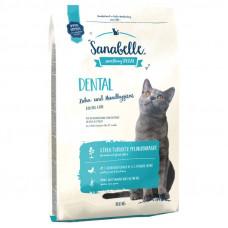 Bosch Sanabelle Dental корм для взрослых кошек поддерживает гигиену ротовой полости 10 кг