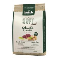 Bosch Soft Mini полувлажный корм для взрослых собак с косулей и картофелем 2,5 кг
