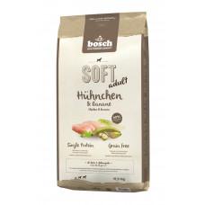 Bosch Soft Adult полувлажный корм для взрослых собак с курицей и бананом 12,5 кг