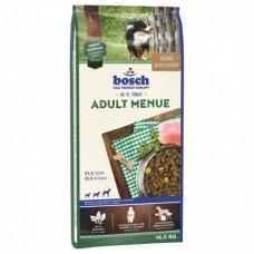 Bosch Adult Menueдля взрослых собак, смесь мясных и овощных гранул с мясом домашней птицы 15 кг