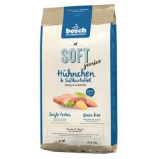 Bosch Soft Junior корм для щенков с курицей и сладким картофелем 12,5 кг
