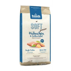 Bosch Soft Junior корм для щенков с курицей и сладким картофелем 1 кг