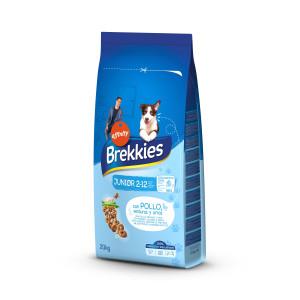 Brekkies Junior сухой корм для щенков и молодых собак всех пород с кальцием и витаминами 20 кг