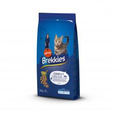 Brekkies Cat Complete cухой корм для взрослых кошек с курицей, тунцом и овощами 15 кг