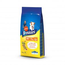Brekkies Dog Mini для собак малых пород с курицей 20 кг