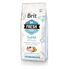 Brit Fresh Fish/Pumpkin Adult Large сухой корм для взрослых собак крупных пород рыба, тыква 12 кг