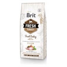 Brit Fresh Turkey/Pea Light Fit & Slim Adult сухой корм для взрослых собак индейка, горошек 12 кг