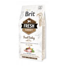 Brit Fresh Turkey/Pea Light Fit & Slim Adult сухой корм для взрослых собак индейка, горошек 2,5 кг