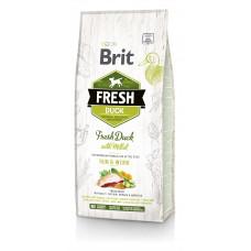 Brit Fresh Duck/Millet Active Run & Work сухой корм для взрослых активных собак утка, пшено 12 кг