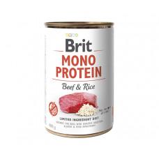 Brit Mono Protein Dog консервы для собак с говядиной и темным рисом 0,4 кг