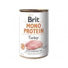 Brit Mono Protein Dog консервы для собак с индейкой 0,4 кг