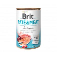 Brit Pate & Meat Dog консервы для собак с лососем 0,4 кг