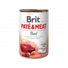 Brit Pate & Meat Dog консервы для собак с говядиной 0,4 кг