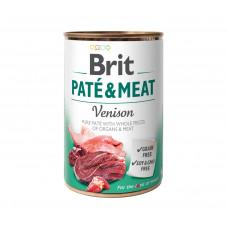 Brit Paté & Meat Dog консервы для собак с олениной 0,4 кг
