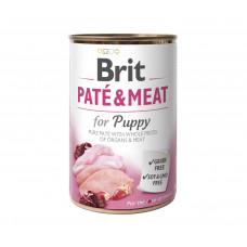 Brit Paté & Meat Puppy консервы для щенят с курицей и индейкой 0,4 кг