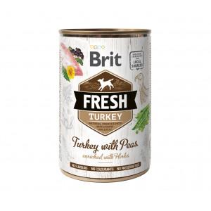Brit Fresh Turkey/Peas консервы для собак индейка, горошек 0,4 кг