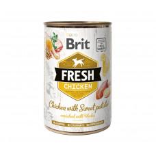Brit Fresh Chicken/Sweet Potato консервы для собак курица, батат 0,4 кг