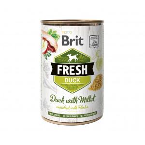 Brit Fresh Duck/Millet консервы для собак утка, пшено 0,4 кг