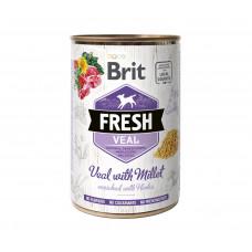 Brit Fresh Veal/Millet консервы для собак телятина, пшено 0,4 кг
