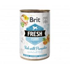 Brit Fresh Fish/Pumpkin консервы для собак рыба, тыква 0,4 кг