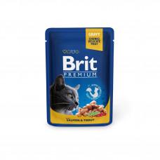 Brit Premium Cat pouch пауч для кошек с лососем и форелью 0,1 кг