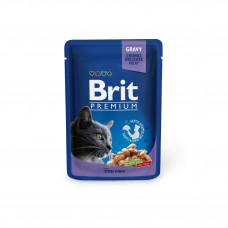 Brit Premium Cat pouch пауч для кошек с треской 0,1 кг