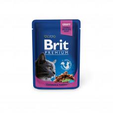 Brit Premium Cat pouch пауч для кошек с курицей и индейкой 0,1 кг