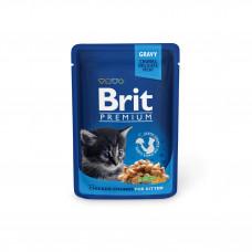 Brit Premium Cat pouch пауч для котят с курицей 0,1 кг