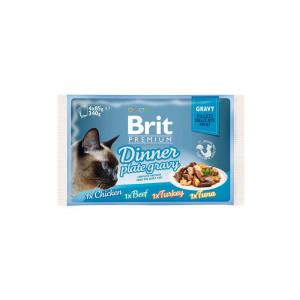 Brit Premium Cat pouch павукові для котів обідня тарілка в желе 4 шт х 0,08 кг