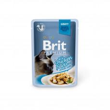 Brit Premium Cat pouch пауч для кошек с филе курицы в соусе 0,085 кг