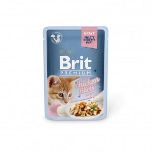 Brit Premium Cat pouch павукові для кошенят з філе курки в соусі 0,085 кг