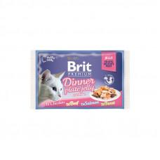 Brit Premium Cat pouch пауч для кошек обеденная тарелка в соусе 4 шт х 0,08 кг