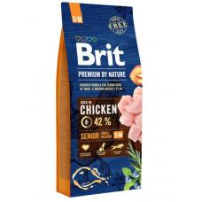 Brit Premium Dog Senior S+M сухой корм для пожилых собак мелких и средних пород 3 кг
