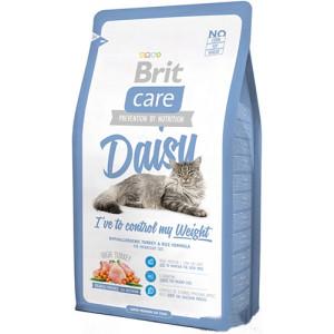 Brit Care Cat Daisy I have to control my Weight корм для кошек с избыточным весом с индейкой и рисом 0,4 кг.