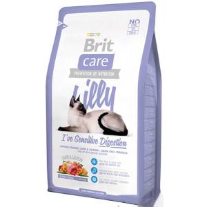 Brit Care Cat Lilly I have Sensitive Digestion корм для кошек с чувствительным пищеварением 0,4 кг.