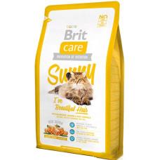Brit Care Cat Sunny I have Beautiful Hair сухой корм для ухода за шерстью кошек с лососем и рисом 0,4 кг.